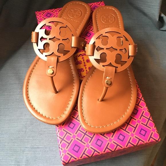 6e97448057f Tory Burch Miller Sandal (Vachetta) Size 9.5 Brown